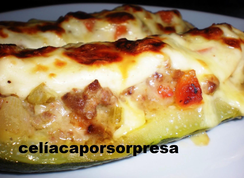 Calabacines Rellenos De Carne (horno)
