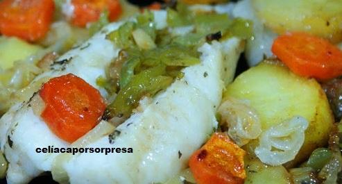 Rape Con Patatas Y Verduras Al horno