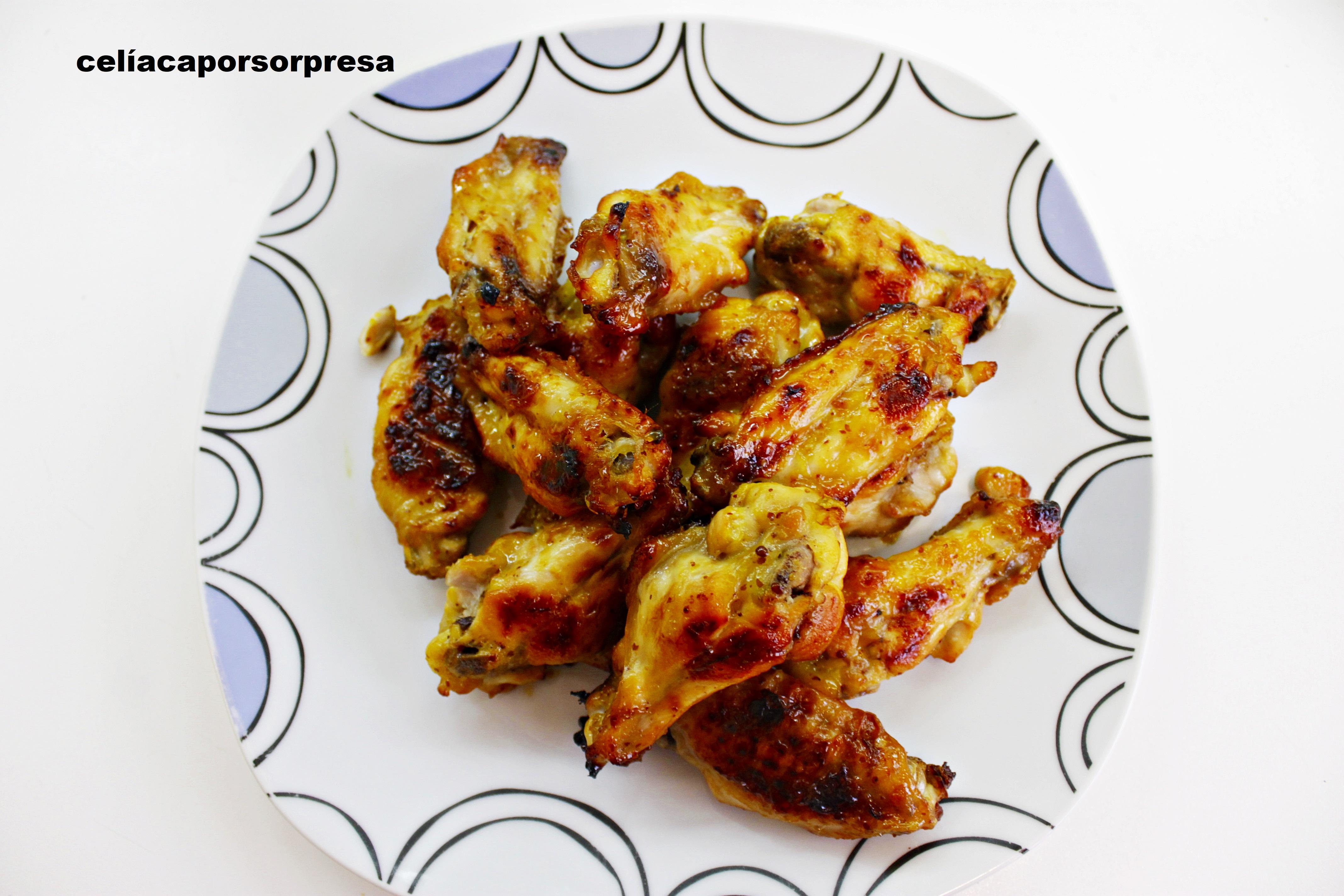 alitas de pollo con miel y mostaza1