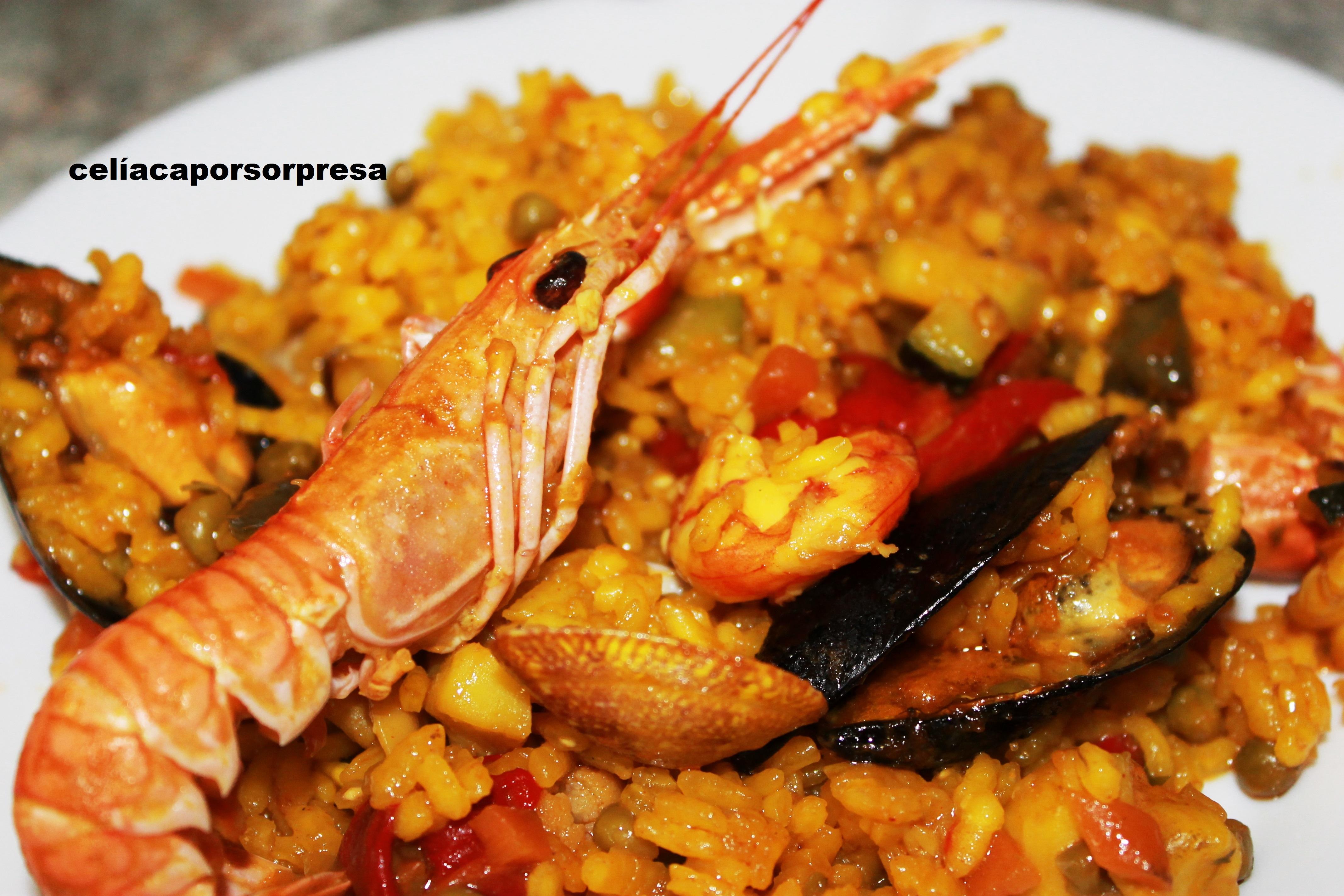 Paella mixta de verdura y pescado cel aca por sorpresa - Paella de pescado ...