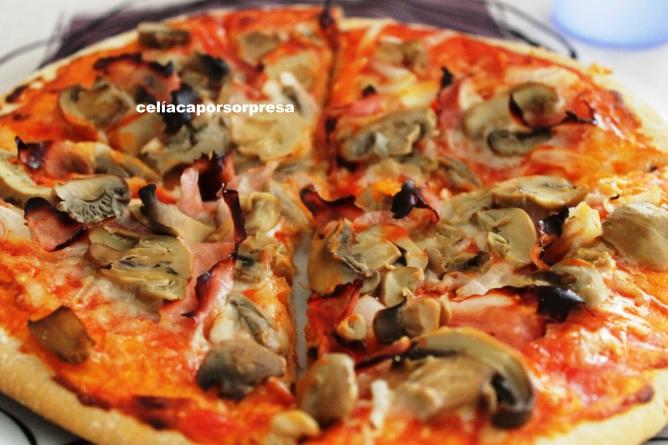 pizza jamón y champiñón1