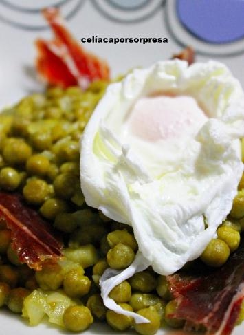 guisantes al vino con huevo escalfado y jamón ibérico5