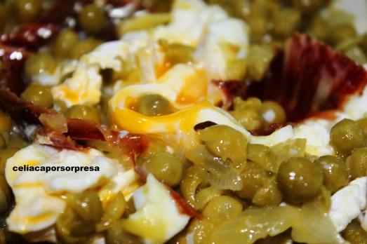 guisantes con huevo poché2