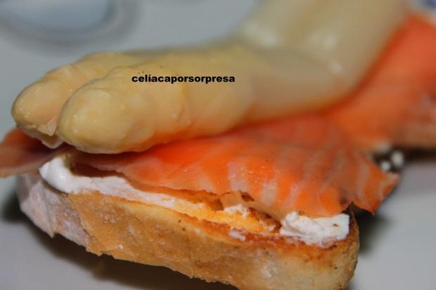 tosta salmón ahumado