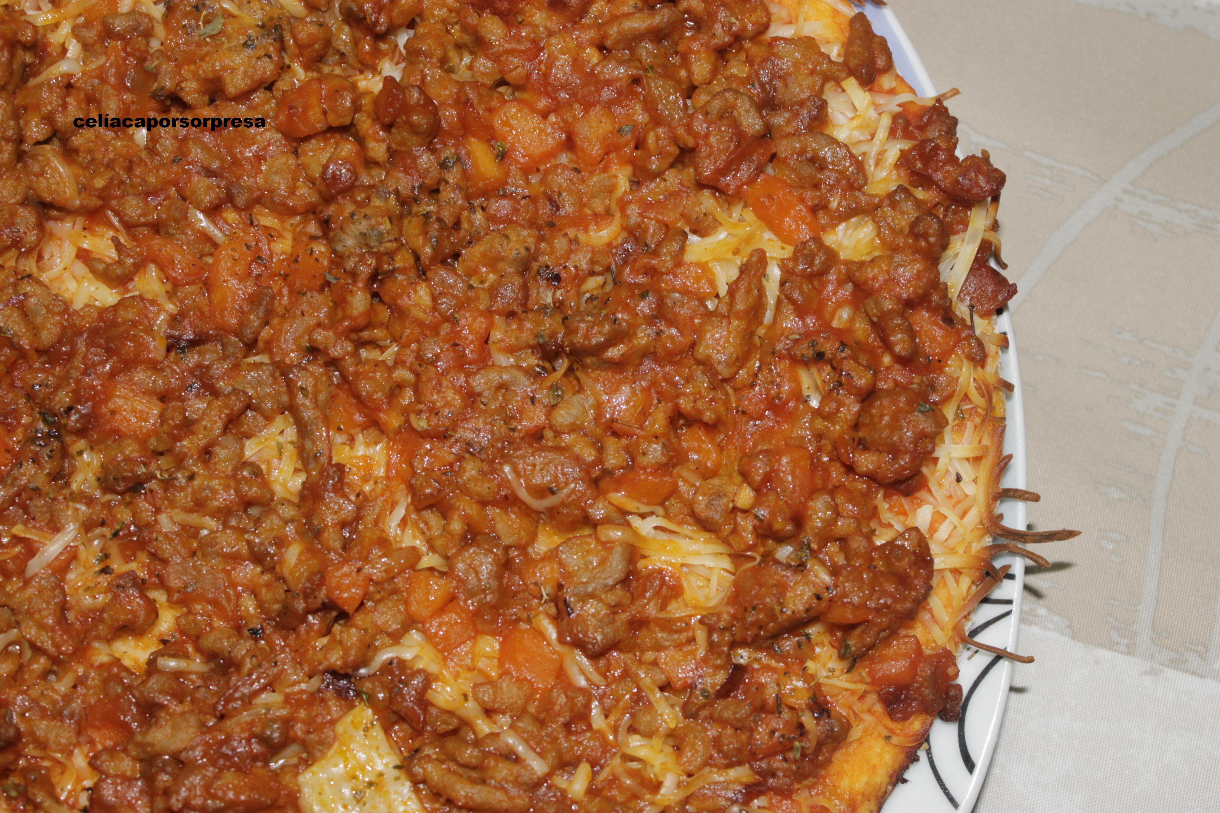 Pizza Boloñesa Con Chistorra (horno)