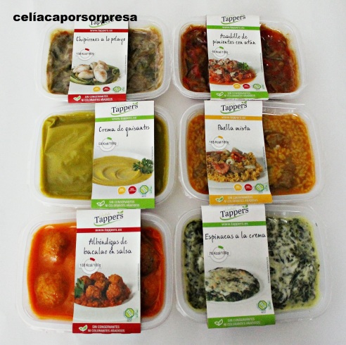 Tappers lifestyle comida casera sin gluten a domicilio Menu comida casera