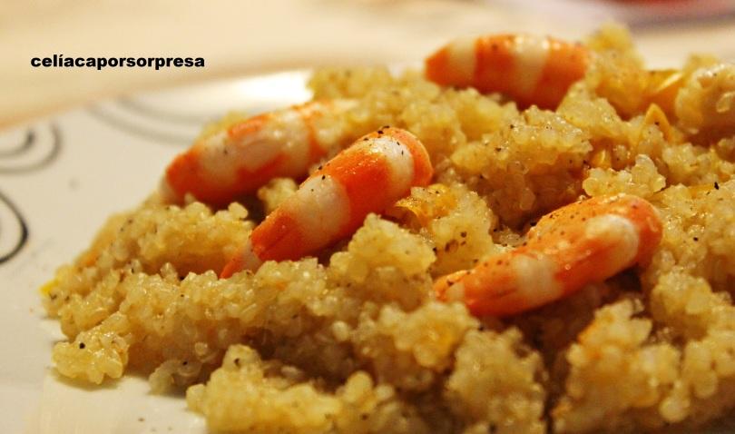 quinoa-con-langostinos