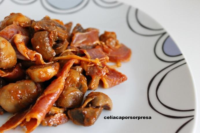 champiñon-con-tomate-y-jamon